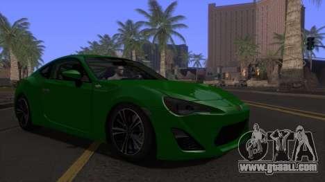 Scion FR-S 2013 Stock v2.0 for GTA San Andreas back view