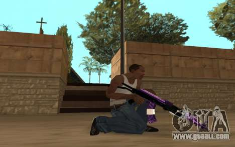 Purple Weapon Pack by Cr1meful for GTA San Andreas sixth screenshot