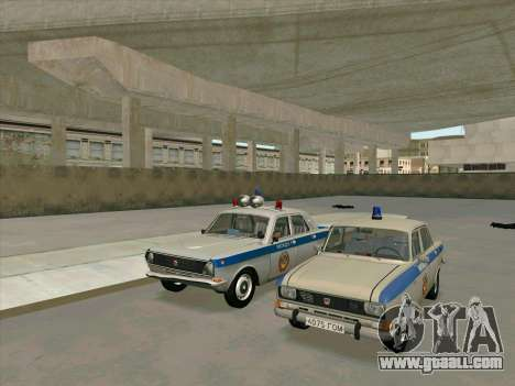 Moskvich 2140 Police for GTA San Andreas back left view