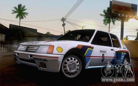Peugeot 205 Turbo 16 1984 [HQLM] for GTA San Andreas left view