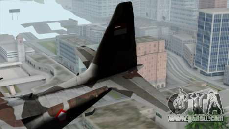C-130B Indonesian Air Force (TNI AU) for GTA San Andreas back left view