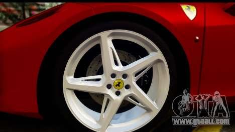 Ferrari 458 Italia for GTA San Andreas back view