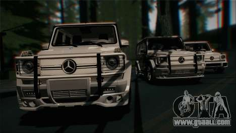 Mercedes-Benz G65 2013 Stock body for GTA San Andreas upper view