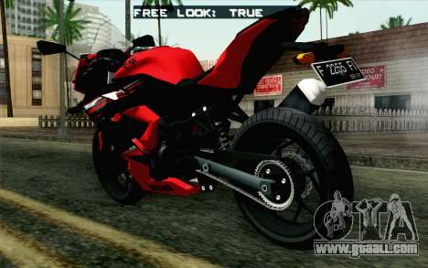 Kawasaki Ninja 250RR Mono Red for GTA San Andreas left view
