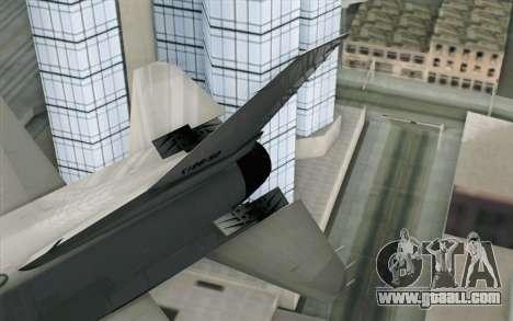 Mitsubishi F-2 Blue JASDF Skin for GTA San Andreas back left view