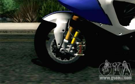 BMW S1000RR HP4 v2 Blue for GTA San Andreas back left view