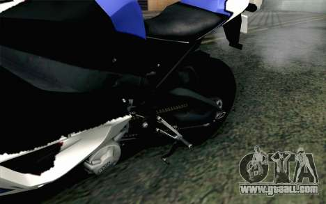 BMW S1000RR HP4 v2 Blue for GTA San Andreas back view