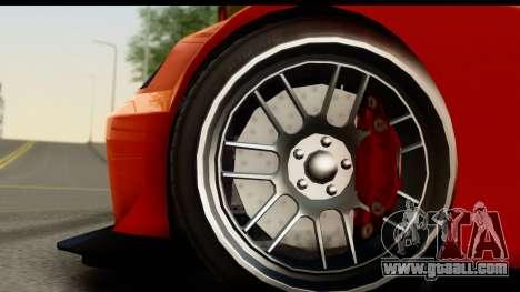 GTA 5 Benefactor Feltzer for GTA San Andreas back view