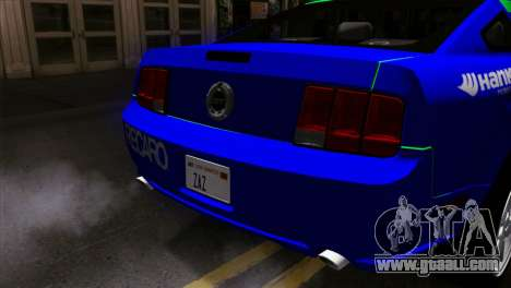 Ford Mustang GT Wheels 2 for GTA San Andreas back view