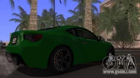 Scion FR-S 2013 Stock v2.0 for GTA San Andreas upper view