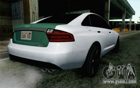 GTA 5 Obey Tailgater v2 IVF for GTA San Andreas left view