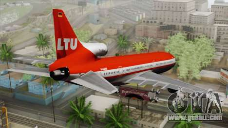 Lookheed L-1011 LTU Intl for GTA San Andreas left view