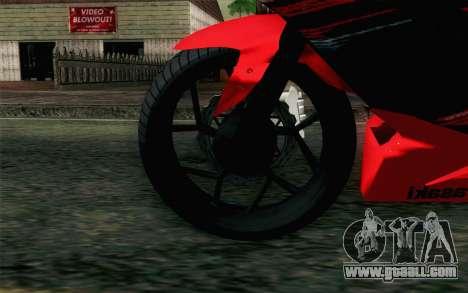Kawasaki Ninja 250RR Mono Red for GTA San Andreas back left view