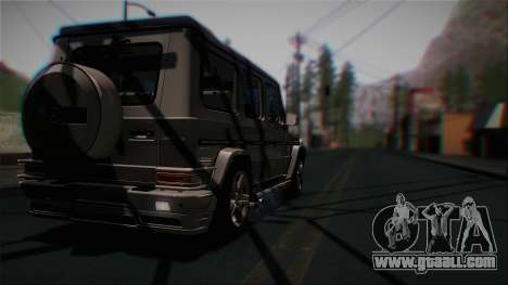 Mercedes-Benz G65 2013 Hamann Body for GTA San Andreas back view