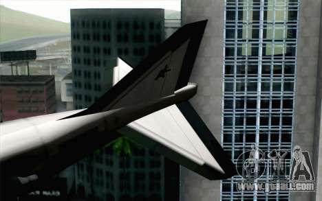 Hydra ADFX-02 Pixy for GTA San Andreas back left view