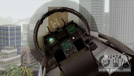 F-16C Block 52 for GTA San Andreas back view