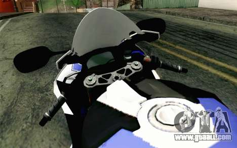 BMW S1000RR HP4 v2 Blue for GTA San Andreas right view