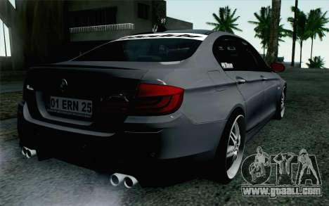BMW 535i 2011 for GTA San Andreas left view