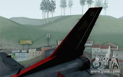 F-16 15th Fighter Squadron Windhover for GTA San Andreas back left view