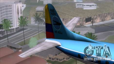 L-188 Electra TAME for GTA San Andreas back left view