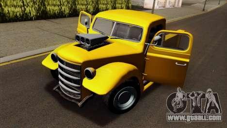 GTA 5 Bravado Rat-Truck for GTA San Andreas back view