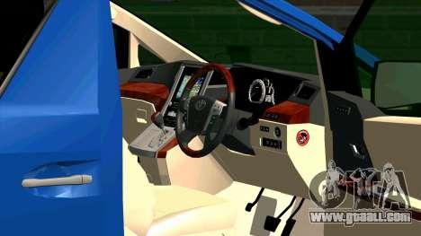 Toyota Alphard 350G for GTA San Andreas inner view