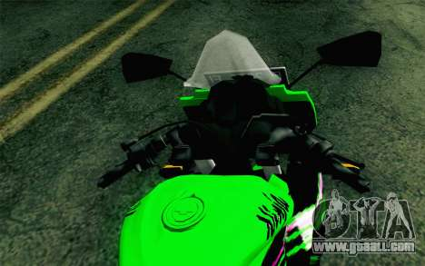 Kawasaki Ninja 250RR Mono Green for GTA San Andreas right view