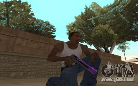 Purple Weapon Pack by Cr1meful for GTA San Andreas second screenshot