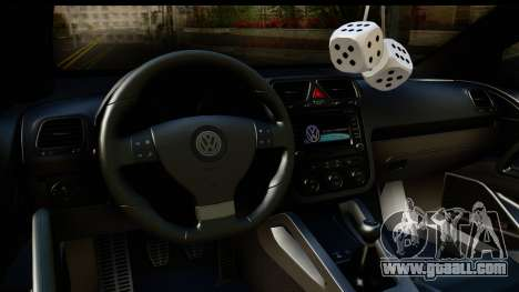 Volkswagen Scirocco for GTA San Andreas inner view