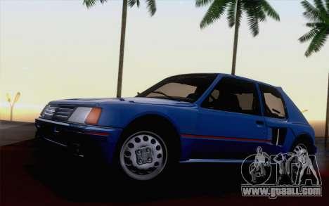 Peugeot 205 Turbo 16 1984 [HQLM] for GTA San Andreas inner view
