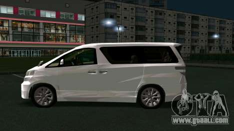 Toyota Vellfire for GTA San Andreas left view