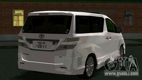 Toyota Vellfire for GTA San Andreas back left view