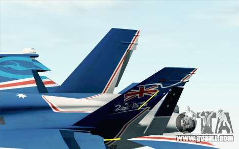 F-18D RAAF 20th Anniversary for GTA San Andreas back left view