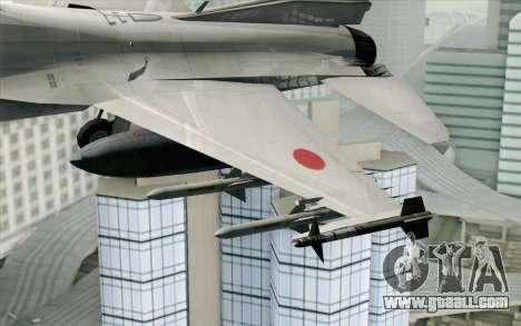 Mitsubishi F-2 Blue JASDF Skin for GTA San Andreas back view