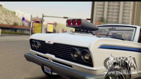 GTA 5 Vapid Blade v2 IVF for GTA San Andreas back left view