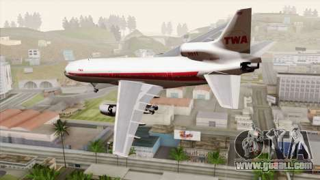 Lookheed L-1011 TWA for GTA San Andreas left view