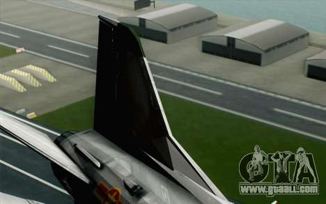 MIG-21MF Vietnam Air Force for GTA San Andreas back left view