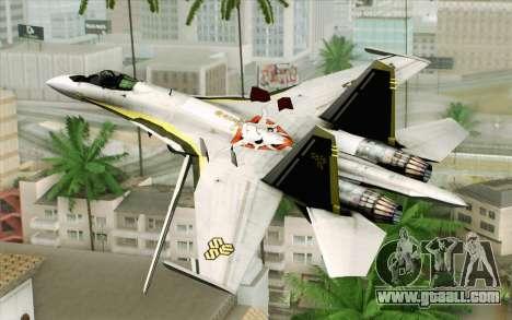 Sukhoi SU-27 Macross Frontier for GTA San Andreas left view