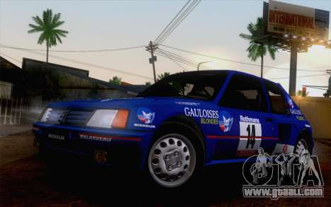 Peugeot 205 Turbo 16 1984 [HQLM] for GTA San Andreas right view