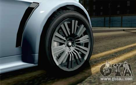 GTA 5 Dewbauchee Exemplar IVF for GTA San Andreas back left view