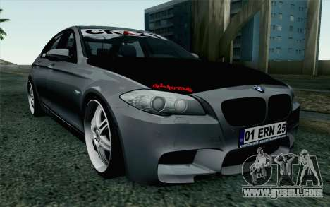 BMW 535i 2011 for GTA San Andreas