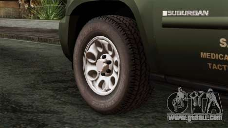 Chevrolet Suburban National Guard MedEvac for GTA San Andreas back left view