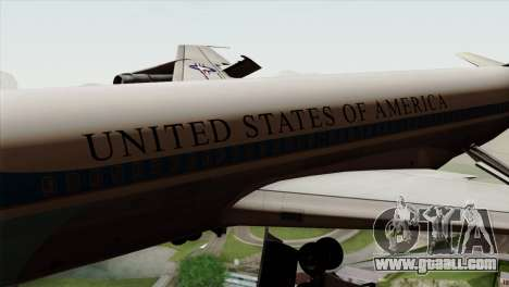 Boeing VC-137 for GTA San Andreas back view