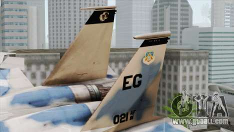 F-15E Artic Blue for GTA San Andreas back left view