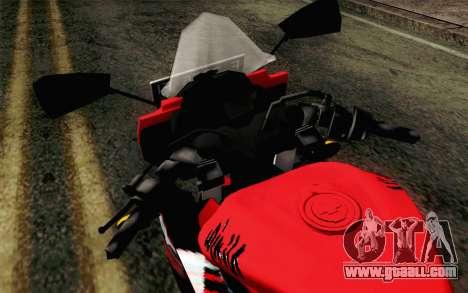 Kawasaki Ninja 250RR Mono Red for GTA San Andreas back view