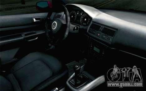 Volkswagen Golf v5 Stock for GTA San Andreas right view