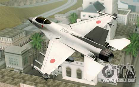 Mitsubishi F-2 Blue JASDF Skin for GTA San Andreas left view