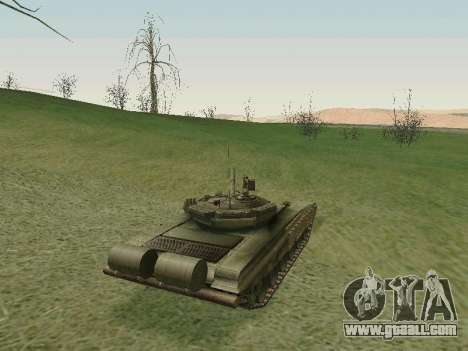 Tank T-72B for GTA San Andreas right view