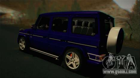 Mercedes-Benz G65 2013 Stock body for GTA San Andreas back view