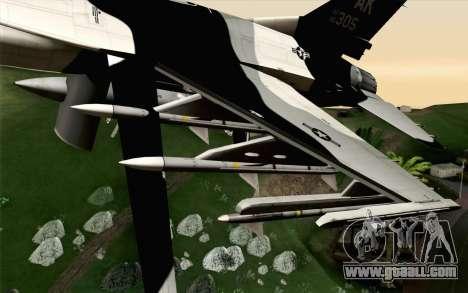 F-16C Fighting Falcon Aggressor Alaska BlackGrey for GTA San Andreas right view